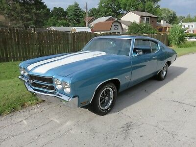 1970 Chevrolet Chevelle SS RARE ASTRO BLUE 1970 CHEVELLE L78 375HP SS396 4 SPEED WITH BUILD SHEET 1 OF 2144
