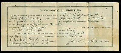 1913 Brandonville,East Union Township,PA Certificate of Election