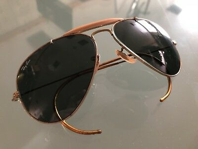 Vintage Gold Ray-Ban Aviator Sunglasses By Bausch & Lomb