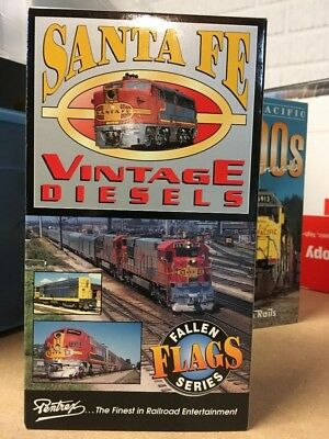 Santa Fe and Union Pacific Vintage Diesels on VHS