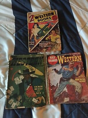 Lot Of (3) Antique Western Books And Comics - 1952, 1953 - Speed, Max Brands