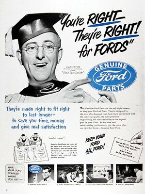 1950 FORD PARTS Genuine Vintage Advertisement ~ KAY KYSER AD