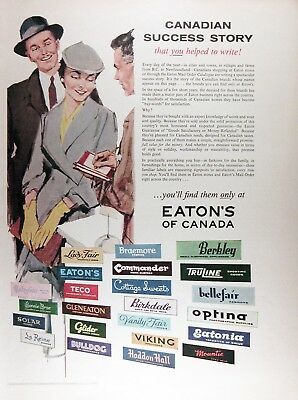1957 EATON'S OF CANADA Genuine Vintage Advertisement ~ RARE CDN AD