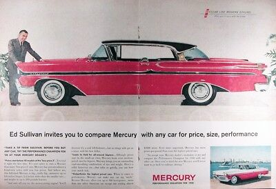 1958 MERCURY MONTCLAIR COUPE Genuine Advertisement ~ RARE CDN AD