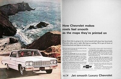 1964 CHEVROLET IMPALA SS COUPE Vintage Advertisement ~  JET SMOOTH