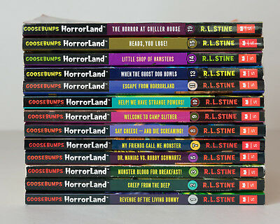 Lot of 13 ALL GOOSEBUMPS HORRORLAND Series Matched Set of Books by R.L. Stine