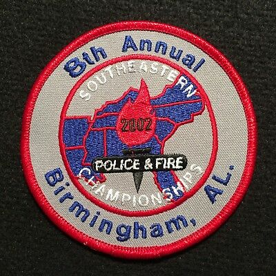 Alabama - 8th Annual 2002 Southeastern Police & Fire Games Birmingham AL Patch
