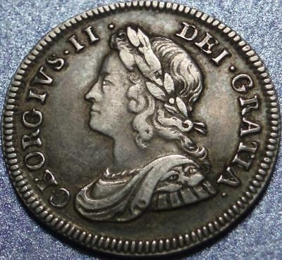 1740 GREAT BRITAIN George II FOUR PENCE or Groat >Sterling Silver< MAUNDY MONEY