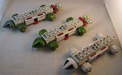 "DINKY TOYS ""Space: 1999 - Lot of 3 Eagle Transporters"" 1974 - Diecast"