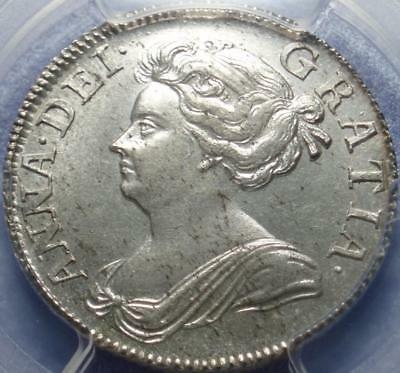 1707 1st Year of GREAT BRITAIN Choice Uncirculated PCGS MS63 QUEEN ANNE SHILLING