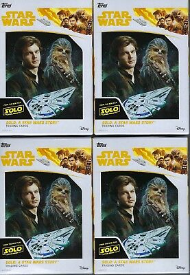 (4) 2018 Topps Solo A Star Wars Story Movie Ed Trading Cards 16ct HANGER Box LOT
