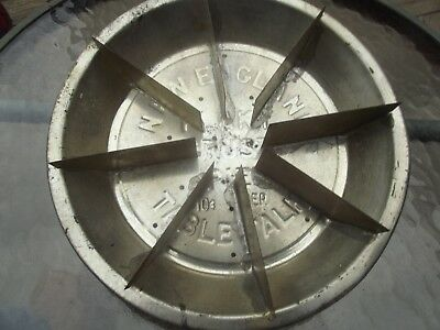 Antique Pie cutter Embossed Tin Pie Plate RARE Table talk Flaky Crust 10 cent