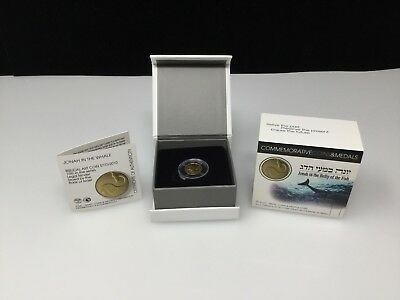 2010 Israel Jonah in the Whale Biblical Art Coin .999 Gold Proof NIS 1 w/ OGP