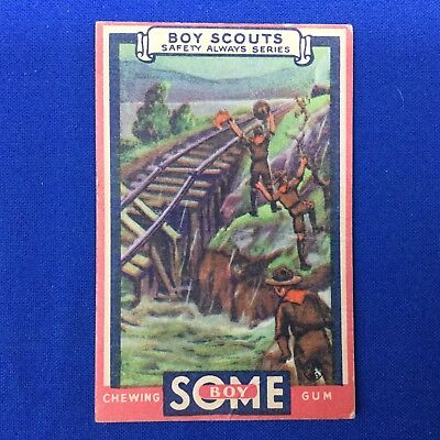 Boy Scout Some Boy Chewing Gum Trading Card No 48 Saving The Train