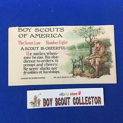 Boy Scout Postcard The Scout Law A Scout Is Cheerful