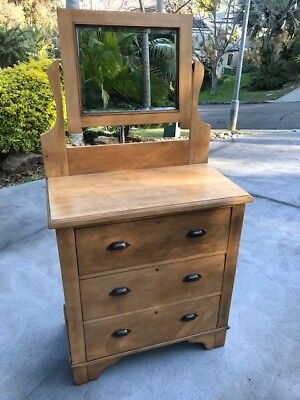 RESTORED antique, dressing table, chest of drawers, c1900. DELIVERY available.