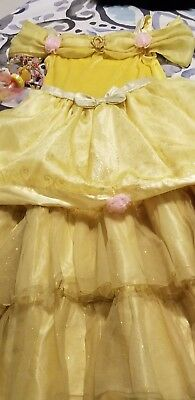 Excellent Condition Disney Store Deluxe Princess Belle Dress Size M(7-8)
