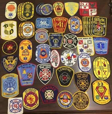 Huge Lot Of 50 Eastern Pennsylvania PA Fire Department / EMS Patches