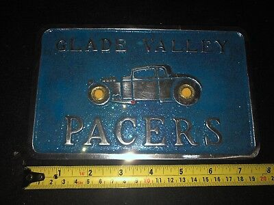 Glade Valley car club plaque drag plate