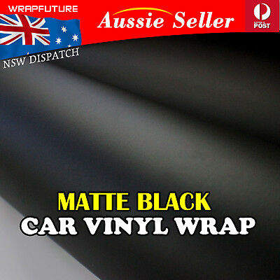 "Bubble Free Polish Matte Black Vinyl Film Wrap Car Sticker DIY 60""x12"" 1.5Mx0.3M"