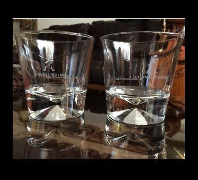 Johnnie Walker Diamond base rocks glasses 10 oz Set of 4 NEW!