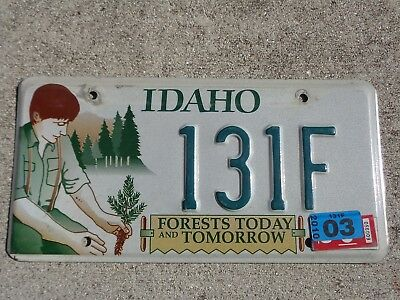 Idaho Forest Today 2010 license plate #  131 F