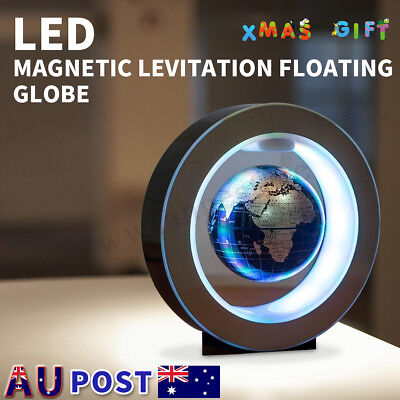 LED Magic Magnetic Levitation Floating Earth Globe Map With O Shape Base Gift