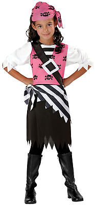 Seasons Halloween Punky Pirate Child 3pc Girl Costume, Black Pink