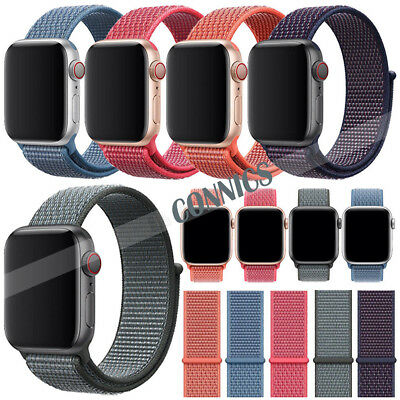 Newest Nylon Woven Sport Loop iWatch Band Strap For Apple Watch Series 4/3/2/1