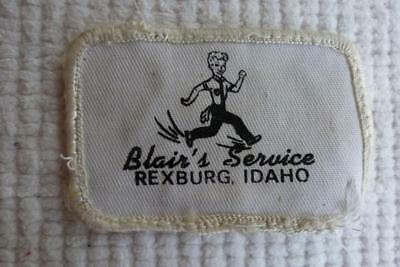 Blairs Service Logo Patch Rexburg Idaho Gas And Oil Service Stations