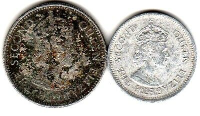 2 different world coins from BELIZE