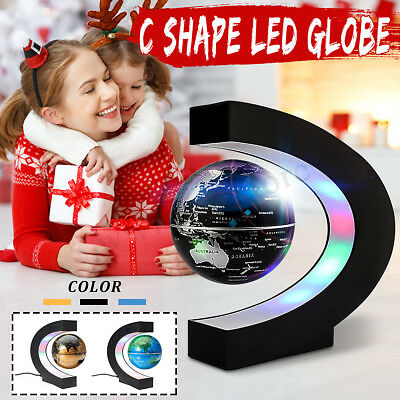 O/C Shape Magic LED World Map Decor Magnetic Levitation Floating Globe Kids Gift
