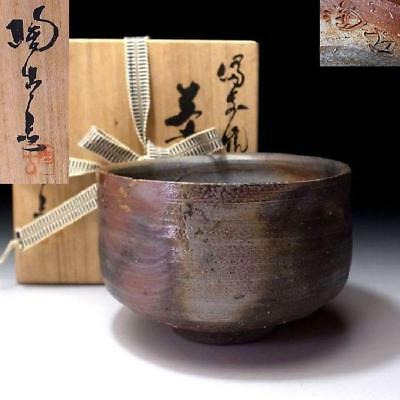 UP6: Vintage Japanese Tea Bowl, Bizen ware by 1st class potter, Toko Konishi