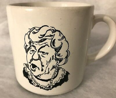 1984 Wendy's Where's The Beef? Vintage Coffee Mug Funny Advertisement