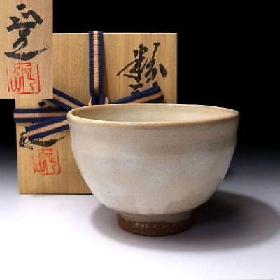 NG8: Vintage Japanese Pottery Tea bowl, Kyo ware, Powder-spraying method, Kobiki