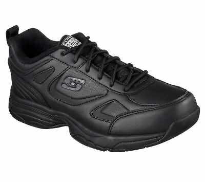 Work Skechers Shoe W Wide Black Slip Resistant 77200 Women Memory Foam EH Hazard