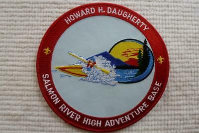 Bsa High Adventure Base Salmon River Jacket Patch Howard H Daugherty Twill 6 In