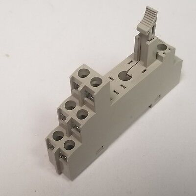 Omron P2RF-08-E Din Rail Mount Relay Socket 2 Pole; 5A, 1000VAC