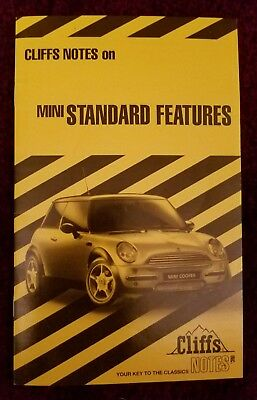 2004 Mini Cooper Rare Clift Notes Brochure