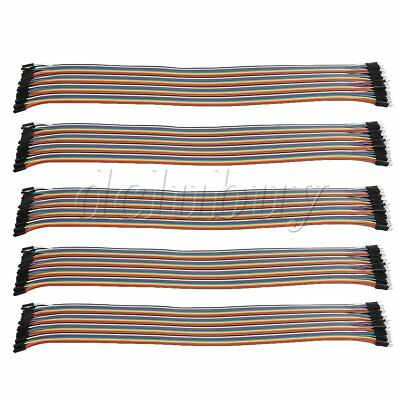 5 Pieces 40pins Male to Female Ribbon Wire Line Connector 42cm Length