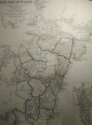 MAP: New South Wales, Australia, NSW, SDUK,  Published 1833, London