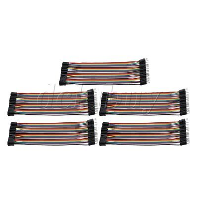 17 x 5.5cm Male to Female 40 Pins Ribbon Cable Wire Connector Set of 5