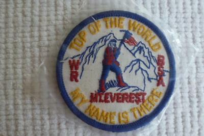 Bsa Mount Everest Patch Top Of The World My Name Is There Wr Twill