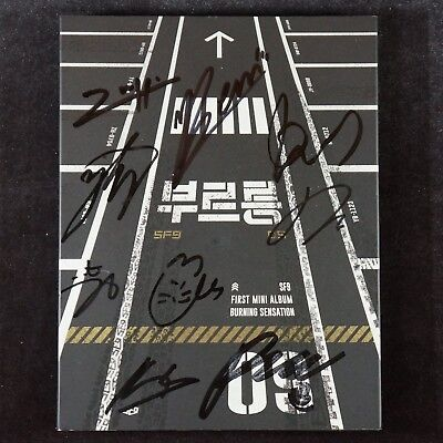 AUTOGRAPHED SF9 [BURNING SENSATION] 1st Mini Album PROMO Signed CD K-POP
