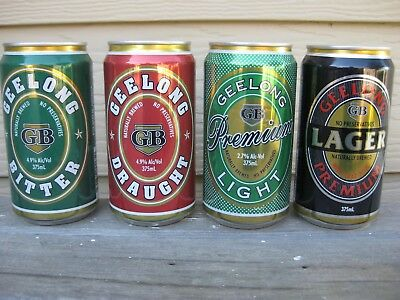 Geelong Brewery Beer Cans