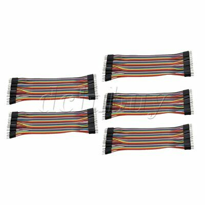 5 Pieces 40pins Cables Line Male to Male Ribbon Wire Connector 17.5cm