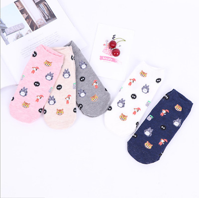 Totoro Ghibli Kiki's Socks Studio Delivery Howl's Moving Castle Spirited  5PCS