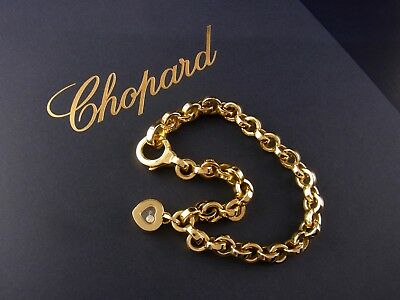 Chopard Happy Diamonds Heart Herz Armband Armkette Bracelet 18 kt Gold 1 Diamant