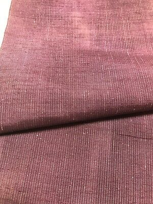 @@ Unused/Japanese kimono silk fabric/ Tsumugi weave purple gradation CX30
