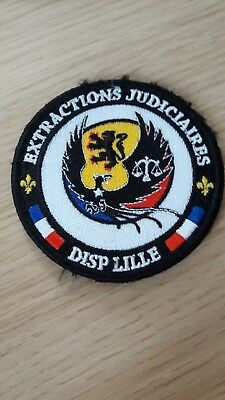 Insigne tissus. POLICE obsolète . EXTRACTIONS JUDICIAIRES DISP LILLE